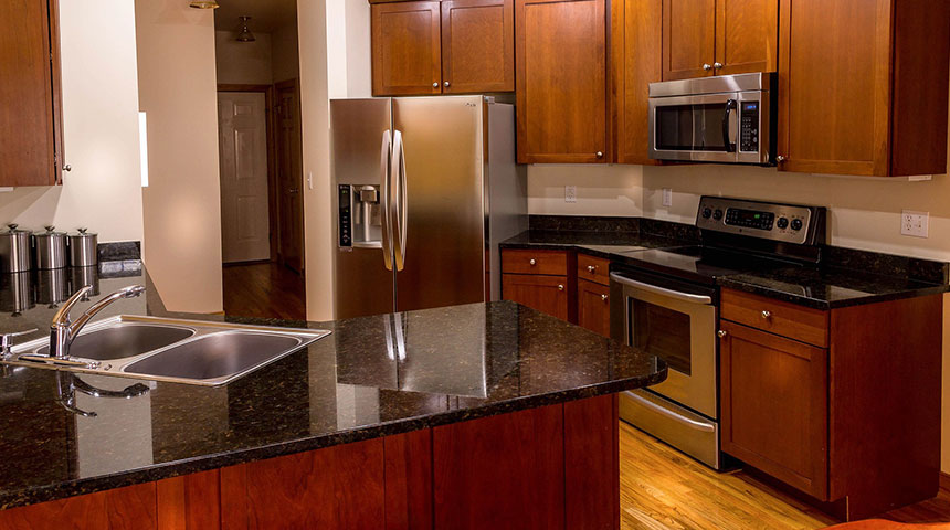 kitchen red - 4 Tips to Clean Stainless Steel Countertops and Appliances